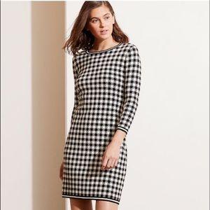 Lauren Ralph Lauren Houndstooth Knit Sweater Dress